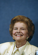 Former U.S. First Lady Betty Ford speaks at the Press Club June 12, 1996 in Washington, DC.