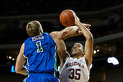 November 8, 2013: Walter Pitchford (35) of the Nebraska Cornhuskers is fouled by Nate Hicks (1) of the Florida Gulf Coast Eagles at the Pinnacle Bank Areana, Lincoln, NE. Nebraska defeated Florida Gulf Coast 79 to 55.