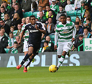 Dundee&rsquo;s Riccardo Calder goes past Celtic&rsquo;s Saidy Janko  - Celtic v Dundee - Ladbrokes Premiership at Celtic Park<br /> <br /> <br />  - &copy; David Young - www.davidyoungphoto.co.uk - email: davidyoungphoto@gmail.com
