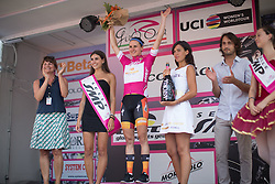 Megan Guarnier (USA) of Boels-Dolmans Cycling Team retained the best sprinter's purple jersey after the Giro Rosa 2016 - Stage 7. A 21.9 km individual time trial from Albisola to Varazze, Italy on July 8th 2016.