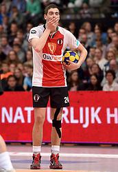 11-04-2015 NED: PKC SWKgroep - TOP Quoratio, Rotterdam<br /> Korfbal Leaguefinale in een volgepakt Ahoy wordt gewonnen door PKC met 22-21 / Mick Snel