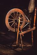 Early American spinning wheel, Conrad Weiser Homestead, Berks Co., PA