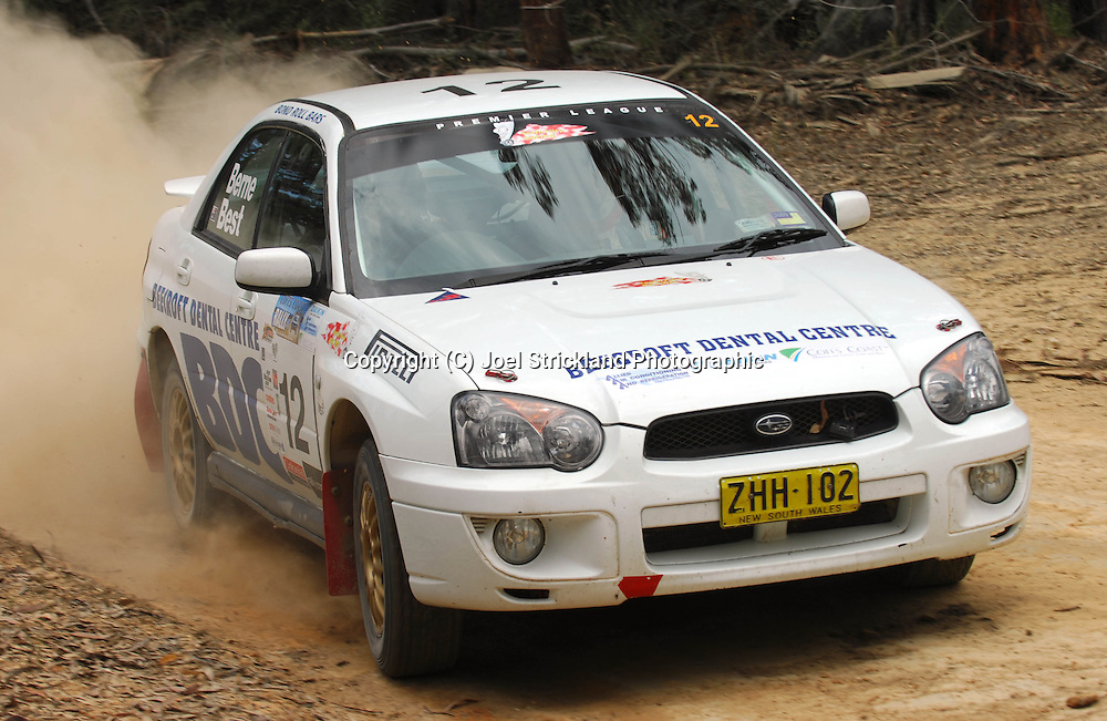 John Berne & Tony Best.Motorsport-Rally/2008 Coffs Coast Rally.Heat 1.Coffs Harbour, NSW.15th of November 2008.(C) Joel Strickland Photographics