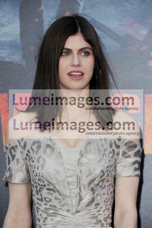 Alexandra Daddario at the Los Angeles premiere of 'Rampage' held at the Microsoft Theater in Los Angeles, USA on April 4, 2018.