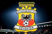 DEVENTER - 13-01-2017, Go Ahead Eagles - AZ,  Stadion Adelaarshorst, 1-3, logo.