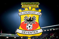 DEVENTER - 13-01-2017, Go Ahead Eagles - AZ,  Stadion Adelaarshorst, 1-3, logo.