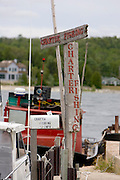 A sign for charter fishing  in Door County, Wisconsin.  (Mike Roemer Photo)