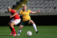 Fifa Womans World Cup Canada 2015 - Preview //<br /> Cyprus Cup 2015 Tournament ( Gsp Stadium Nicosia - Cyprus ) - <br /> Australia vs England 0-3   //  Lianne Sanderson of England (L) , challenges with Laura Alleway of Australia (R)