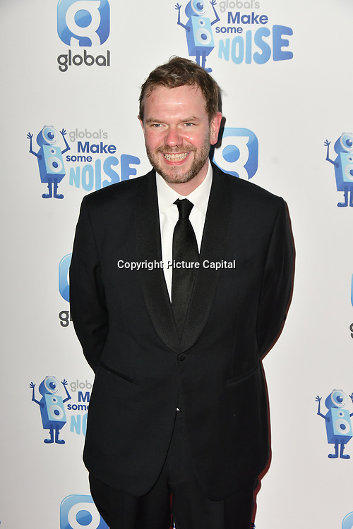 James O'Brien arrivers at the Global's Make Some Noise Night at Finsbury Square Marquee on 20 November 2018, London, UK.