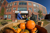 Pumpkin deliveries from Vista Food for Pumpkin Fest 2015.  Karen Bobotas for the Laconia Daily Sun