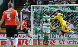 Paul Benson of Luton Town scores his sides goal - Photo mandatory by-line: Harry Trump/JMP - Mobile: 07966 386802 - 22/08/15 - SPORT - FOOTBALL - Sky Bet League Two - Yeovil Town v Luton Town - Huish Park, Yeovil, England.