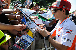 May 19, 2018 - Le Mans, France - Marc Marquez meet the fans at Bugatti Circuit.during MotoGP Le Mans practice sessions in France  (Credit Image: © Gaetano Piazzolla/Pacific Press via ZUMA Wire)