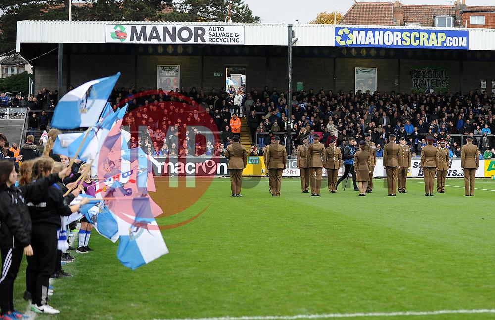 Remembrance Service - Mandatory by-line: Neil Brookman/JMP - 18/11/2017 - FOOTBALL - Memorial Stadium - Bristol, England - Bristol Rovers v AFC Wimbledon - Sky Bet League One