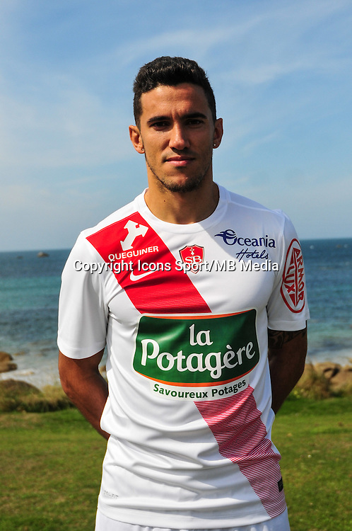 Ga&euml;tan Belaud - 09.09.2015- Photo Officielle de Brest - Ligue 2<br /> Photo : Philippe Le Brech / Icon Sport