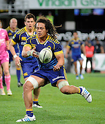 TJ Ioane in action for Otago in the ITM Cup Rugby Match. Otago v Manawatu at Forsyth Barr Stadium, Dunedin, New Zealand. Friday 10 October 2014. New Zealand. Photo: Richard Hood/photosport.co.nz