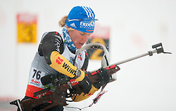Horchler Nadine of Germany competes during Ladies 7,5 km Sprint of the e.on IBU Biathlon World Cup on Thursday, December 14, 2012 in Pokljuka, Slovenia. The third e.on IBU World Cup stage is taking place in Rudno polje - Pokljuka, Slovenia until Sunday December 16, 2012. (Photo By Vid Ponikvar / Sportida.com)