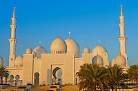 Emirats Arabes Unis, Abou Dhabi, mosquée de Sheikh Zayed Bin Sultan Al Nahyan //United Arab Emirates, Abu Dhabi, Sheikh Zayed Grand Mosque