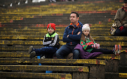 Mayo fans reflecting on the final moments at McHale park during the national football league encounter against Kerry. Pic Conor McKeown