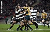 Barbarians v Australia Centenary Match. Wembley. 3-12-08. Advertising pics