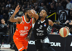 Codi Miller-McIntyre of Cedevita Olimpija vs Corey Walden fo Partizan during basketball match between KK Partizan NIS and KK Cedevita Olimpija in Round #15 of ABA League 2019/20, on January 11, 2020 in Arena Stark, Belgrade, Serbia. Photo by Nebojsa Parausic / Sportida