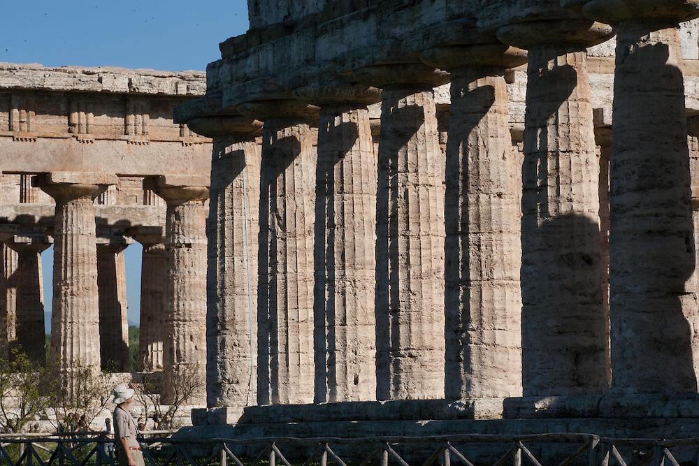 Italy, Magna Graecia : Paestum temples : temple to Hera II, Neptune, or Hera & Zeus (disputed attribution of dedication)