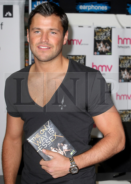 © under license to London News Pictures. 28/03/11. Mark Wright.  'The Only Way Is Essex' cast promote and sign copies of their new DVD at HMV in Lakeside mall. Essex, England. Photo credit should read Andy Barnes/LNP.
