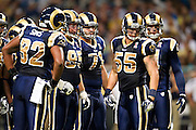 ST. LOUIS, MO - SEPTEMBER 11:   Defense of the St. Louis Rams looks over to the sidelines during a game against the Philadelphia Eagles at the Edward Jones Dome on September 11, 2011 in St. Louis, Missouri.  The Eagles defeated the Rams 31 to 13.  (Photo by Wesley Hitt/Getty Images) *** Local Caption ***