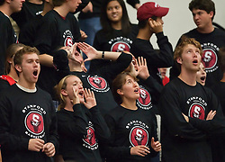 November 6, 2009; Stanford, CA, USA;  Stanford Cardinal students cheer during the second half of an exhibition game against the Sonoma State Seawolves at Maples Pavilion.  Stanford defeated Sonoma State 82-61.