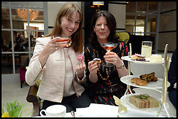 Katy Taylor-Richards (L) Hen do Tea party at the Intercontinental Hotel Westminster with Vicki Field, Katy is getting married to George Eustice MP on Saturday May 18th 2013, Picture taken Wednesday, 15th May 2013, Picture by Andrew Parsons / i-Images
