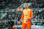 Blackburn Rovers goalkeeper Jason Steele (#1) in action during the EFL Sky Bet Championship match between Newcastle United and Blackburn Rovers at St. James's Park, Newcastle, England on 26 November 2016. Photo by Craig Doyle.
