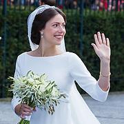 NLD/Apeldoorn/20130105 - Huwelijk prins Jaime en prinses Viktoria Cservenyak, aankomst bruid