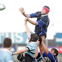 Shannon's Donnacha Ryan wins this line out from Galwegians Brian McLearn in thier meeting in the AIB All Ireland League Match in Thomand Park on Saturday. Pic. Brian Arthur/ Press 22.
