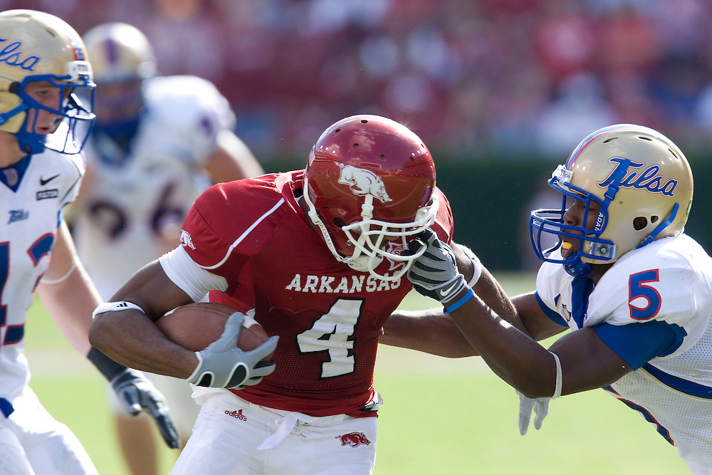 University of Arkansas Razorback Football Team during the 2008-2009 season in Fayetteville, Arkansas....©Wesley Hitt.All Rights Reserved.501-258-0920.