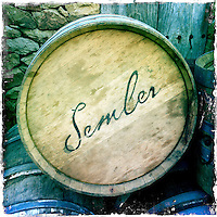 2013 March 10:  Malibu Winery location wine art.  Semler.  iPhone Hipsta