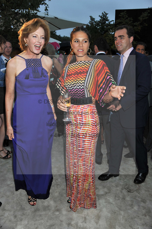 Left to right, JULIA PEYTON-JONES and MARGHERITA MISSONI at the annual Serpentine Gallery Summer Party sponsored by Burberry held at the Serpentine Gallery, Kensington Gardens, London on 28th June 2011.