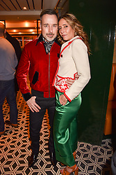 David Furnish and Tara Bernerd at a party to celebrate the publication of Place by Tara Bernerd held at il Pampero at The Hari, 20 Chesham Place, London, England. 8 March 2017.