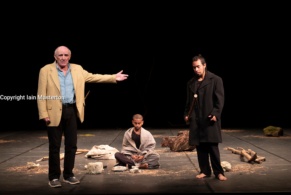 Edinburgh, Scotland, UK; 21 August, 2018. The Prisoner preview performed at The Lyceum Theatre in Edinburgh. Asking profound questions about justice, guilt and who gets to decide what they are, The Prisoner brings together a multinational cast of acclaimed actors from countries including Sri Lanka, Rwanda, India and the UK. This is a provocative exploration of some of the most compelling issues of our times.<br /> <br /> The Prisoner is co-written and co-directed by Brook and long-time collaborator Marie-Hélène Estienne. The Prisoner is part of the residency of the Théâtre des Bouffes du Nord at the 2018 International Festival.
