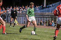 Danny Wilson, footballer, N Ireland, Luton Town, 19880509DW3.<br /> <br /> Copyright Image from Victor Patterson, Belfast, UK<br /> <br /> t: +44 28 9066 1296 (from Rep of Ireland 048 9066 1296)<br /> m: +44 7802 353836<br /> e: victorpattersonbelfast@gmail.com<br /> <br /> www.images4media.com<br /> <br /> Please see my full Terms and Conditions of Use at https://www.images4media.com/p/terms-conditions - it is IMPORTANT that you familiarise yourself with them.<br /> <br /> Images used online incur an additional cost. This cost should be agreed in writing in advance. Online images must be visibly watermarked i.e. © Victor Patterson or that of the named photographer within the body of the image. The original metadata must not be deleted from images used online.<br /> <br /> This image is only available for the use of the download recipient i.e. television station, newspaper, magazine, book publisher, etc, and must not be passed on to a third party. It is also downloaded on condition that each and every usage is notified within 7 days to victorpattersonbelfast@gmail.com.<br /> <br /> The right of Victor Patterson (or the named photographer) to be identified as the author is asserted in accordance with The Copyright Designs And Patents Act (1988). All moral rights are asserted.