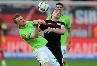 v.l. Maximilian Arnold, Julian Baumgartlinger (Leverkusen)<br /> Leverkusen, 02.04.2017, Fussball, Bundesliga, Bayer 04 Leverkusen - VfL Wolfsburg<br /> Norway only