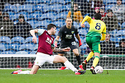 Norwich City midfielder Mario Vrančić (8) goes passed the defence during the The FA Cup match between Burnley and Norwich City at Turf Moor, Burnley, England on 25 January 2020.