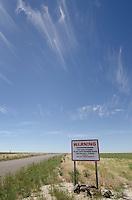 Air Force warning sign SW Idaho