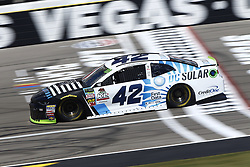 September 14, 2018 - Las Vegas, Nevada, United States of America - Kyle Larson (42) brings his race car down the front stretch during practice for the South Point 400 at Las Vegas Motor Speedway in Las Vegas, Nevada. (Credit Image: © Chris Owens Asp Inc/ASP via ZUMA Wire)