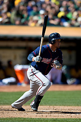 OAKLAND, CA - SEPTEMBER 22: Oswaldo Arcia #31 of the Minnesota Twins at bat against the Oakland Athletics during the fifth inning at O.co Coliseum on September 22, 2013 in Oakland, California. The Oakland Athletics defeated the Minnesota Twins 11-7 as they clinched the American League West Division. (Photo by Jason O. Watson/Getty Images) *** Local Caption *** Oswaldo Arcia