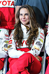 LONG BEACH, CA/USA (Tuesday, April 9, 2013) -  Mexico's most acclaimed and popular actress, Kate del Castillo, sits down for a group photo with all of the celebrities during a press luncheon at the 2013 Toyota PRO/Celebrity Race Press/Practice Day. PHOTO © Eduardo E. Silva/SILVEX.PHOTOSHELTER.COM.