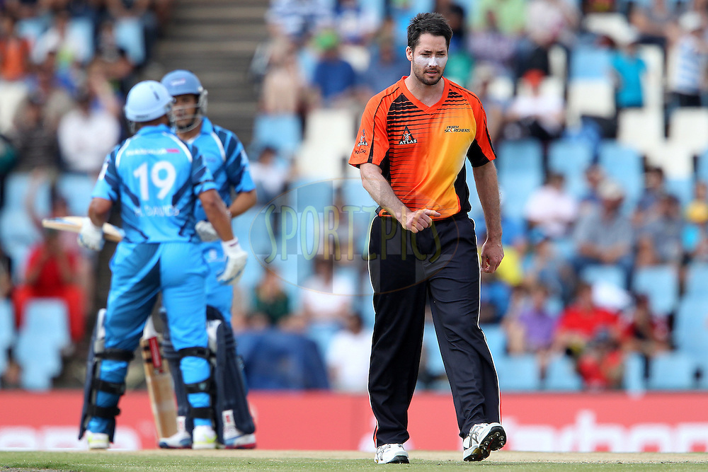Ben Edmondson walks back during match 1 of the Karbonn Smart CLT20 South Africa between The Titans and The Perth Scorchers held at Supersport Park Stadium in Centurion, South Africa on the 13th October 2012..Photo by Ron Gaunt/SPORTZPICS/CLT20