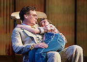 To Kill a Mockingbird <br /> by Harper Lee <br /> at The Barbican Theatre, London, Great Britain <br /> rehearsal <br /> 25th June 2015 <br /> <br /> Ava Potter as Scout <br /> <br /> Robert Sean Leonard as Atticus Finch<br /> <br /> Tommy Rodger as Jem<br /> <br /> Connor Brundish as Dill<br /> <br /> Photograph by Elliott Franks <br /> Image licensed to Elliott Franks Photography Services