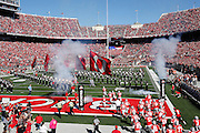 COLUMBUS, OH - OCTOBER 10: The Ohio State Buckeyes take the field against the Maryland Terrapins before a game at Ohio Stadium on October 10, 2015 in Columbus, Ohio. The Buckeyes defeated the Terrapins 49-28. (Photo by Joe Robbins)