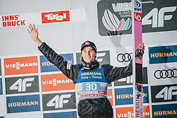 04.01.2020, Bergiselschanze, Innsbruck, AUT, FIS Weltcup Skisprung, Vierschanzentournee, Innsbruck, Siegerehrung, im Bild 3. Platz Daniel Andre Tande (NOR) // 3nd placed Daniel Andre Tande of Norway during the winner Ceremony for the Four Hills Tournament of FIS Ski Jumping World Cup at Bergiselschanze in Innsbruck, Austria on 2020/01/04. EXPA Pictures © 2020, PhotoCredit: EXPA/ Dominik Angerer