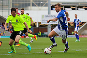 Chesterfield midfielder Jay O'Shea (26) leads the attack during the EFL Sky Bet League 1 match between Chesterfield and Northampton Town at the Proact stadium, Chesterfield, England on 17 September 2016. Photo by Aaron  Lupton.
