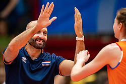 03-08-2019 ITA: FIVB Tokyo Volleyball Qualification 2019 / Netherlands, - Kenya Catania<br /> 3rd match pool F in hall Pala Catania between Netherlands - Kenya. Netherlands win 3-0 / Coach Jamie Morrison of Netherlands